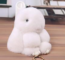 Меховой кролик брелок