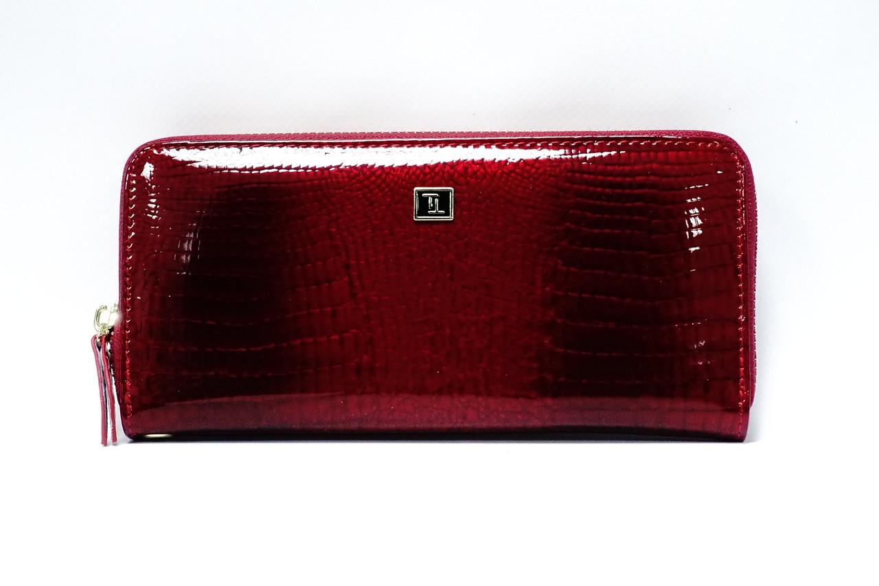 Кожаный кошелек на молнии Bretton Lizard W38 Red
