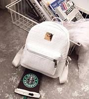 Маленький женский рюкзак белый, фото 1