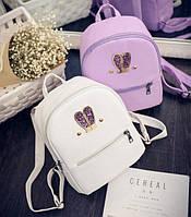 Маленький детский рюкзак с ушками Белый, фото 1