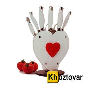 """Набір ножів з підставкою """"Серце"""" Shanqxing YW-A190-H"""