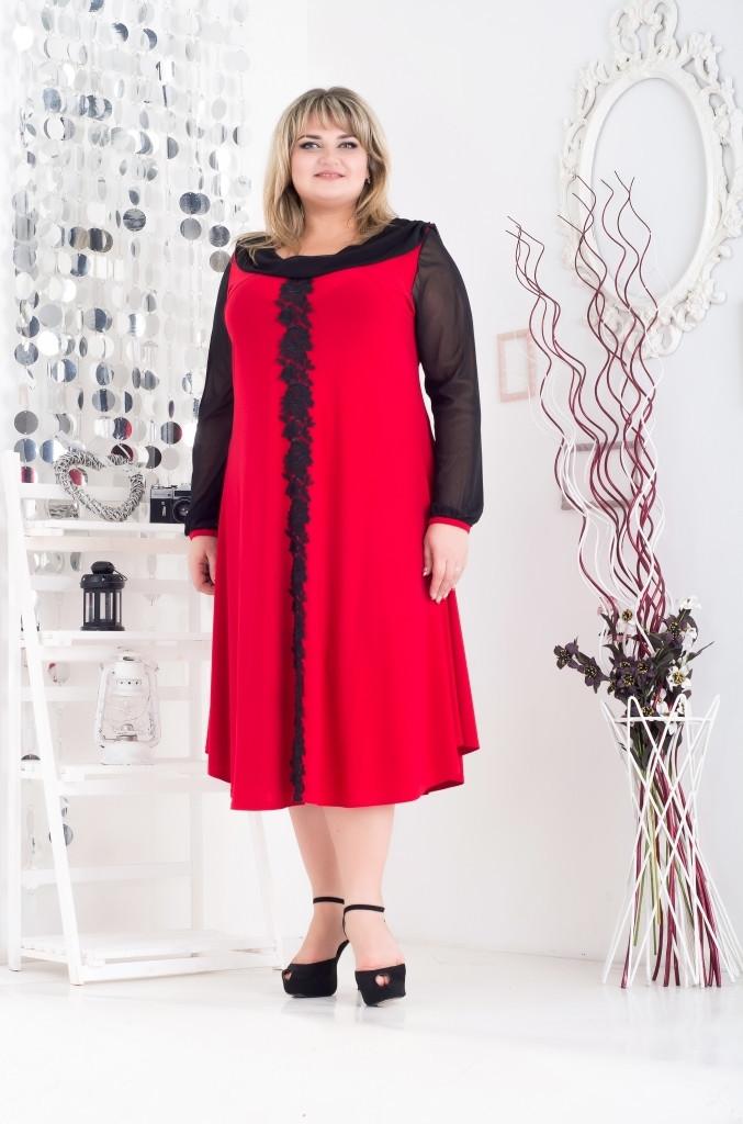 Платье вечернее с кружевом 180269 р 62-68