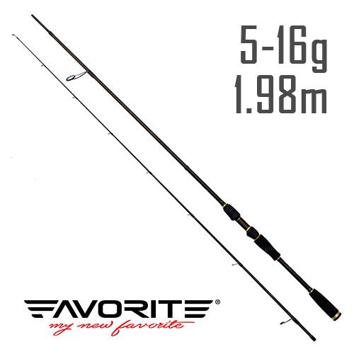 Спиннинг Favorite Varita VRT-662ML 1.98m 5-16g Mod-Fast