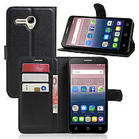 Чехол-книжка Litchie Wallet для Alcatel One Touch Pop 3 5025D (5.5) Черный