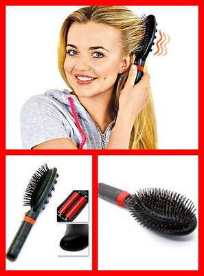 Массажная расческа Brush RM 709 Massaging, электрическая расческа, фото 2