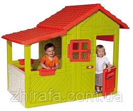 Дитячий ігровий будиночок з кухнею і дзвінком Smoby Neo Floralie 310300
