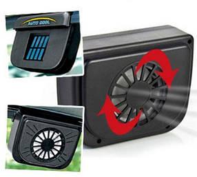 Вентилятор на сонячній батареї Auto Cool, авто вентилятор, фото 2