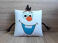 Мягкая игрушка-подушка Снеговик Олаф персонаж Холодное сердце