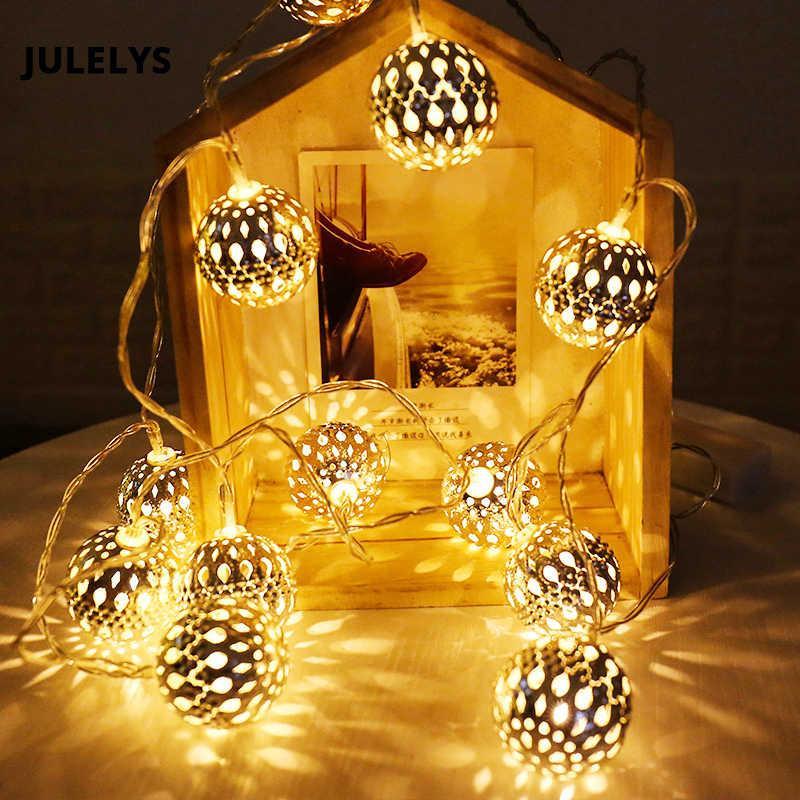 Гирлянда 20 led шар LED 20 metal WW warm white