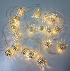 Гирлянда 20 led шар LED 20 metal WW warm white, фото 3