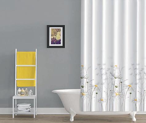 Шторка в ванную daisy