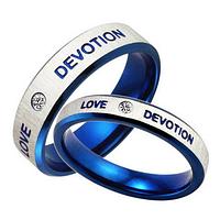 """Парные кольца """"Хранители любви"""" серебристо-синие, фото 1"""