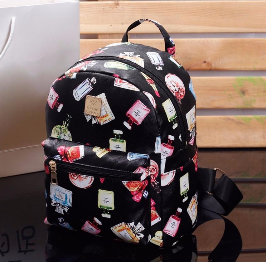 b7a8f7870d07 Женский маленький рюкзак экокожа Черный с принтом: продажа, цена в Киеве.  рюкзаки ...