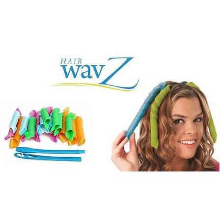Волшебные бигуди для волос любой длины Hair Wavz, бигуди-спиральки PR1, фото 2