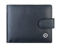 Качественный мужской кожаный кошелёк  Boston  Black