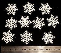 Снежинки пластик перламутр  60 мм. №2 (10 шт.)