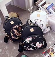 Жіночий рюкзак з квітами, фото 1