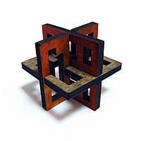 3D-головоломка деревянная Крутиголовка Латтис 3