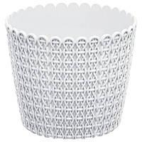 Горшок пластмассовый Nitly белый, размер в ассортименте