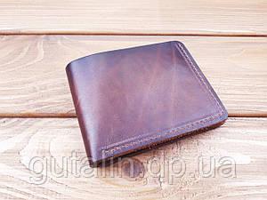 Мужское портмоне из натуральной кожи ручной работы Италия цвет коричневый