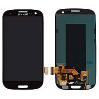 Дисплейный модуль (экран и сенсор) для Samsung Galaxy S3 i9300, i9300i, i9301, i9305, черный, оригинал