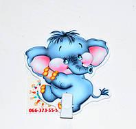 Держатель рисунка с прищепкой Слоненок