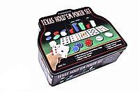 Набор для игры в покер Duke в оловянном кейсе 200 фишек
