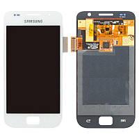 Дисплейный модуль (экран и сенсор) для Samsung Galaxy S i9000, i9001, белый, оригинал