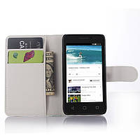 Чехол-книжка Litchie Wallet для Alcatel One Touch Pixi 3 4013D (4.0) Белый