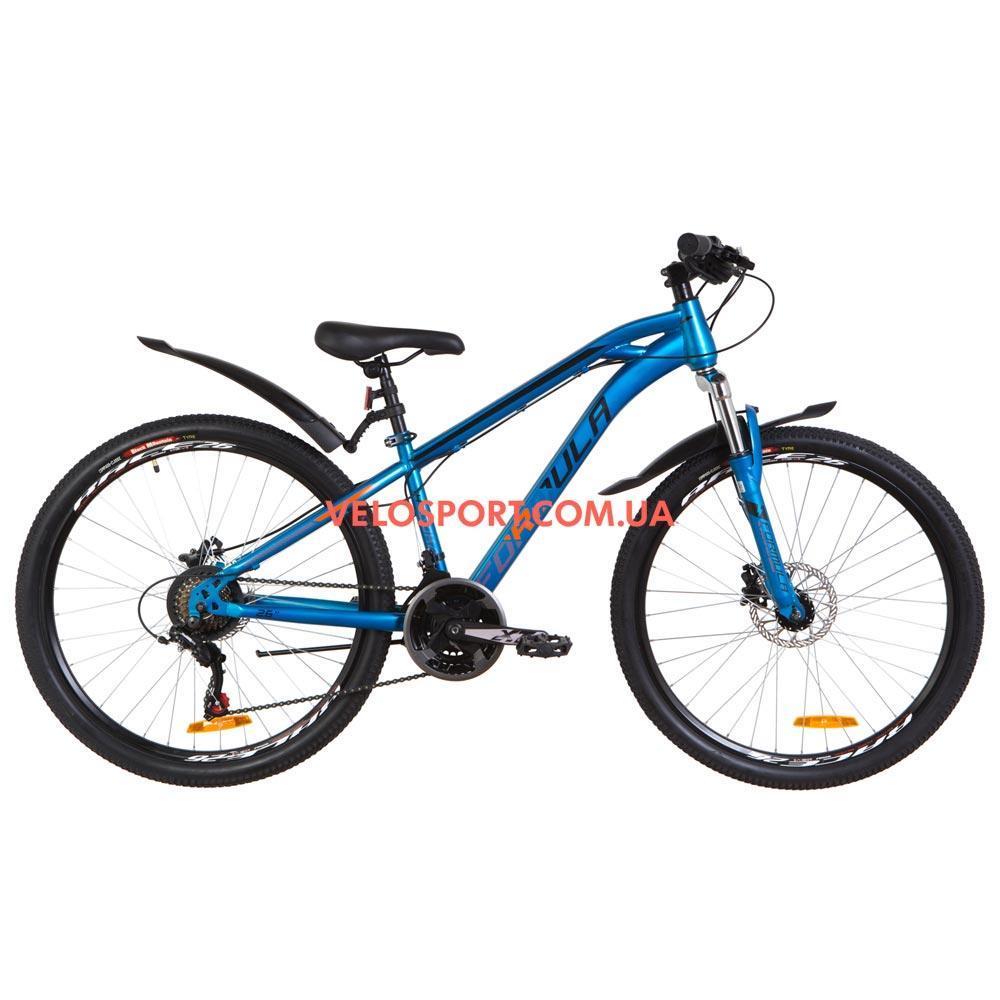Горный велосипед Formula Dakar HDD 26 дюймов синий с оранжевым