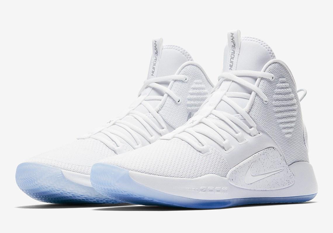 "5dee1f67 Белые баскетбольные кроссовки Nike Hyperdunk X ""Pure White"" / найк  гиперданк (Топ реплика"