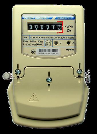 Счетчик измерения и учета электроэнергии однофазный ЦЭ6807Б-U К 1 220В 5-60А М6Ш6, фото 2