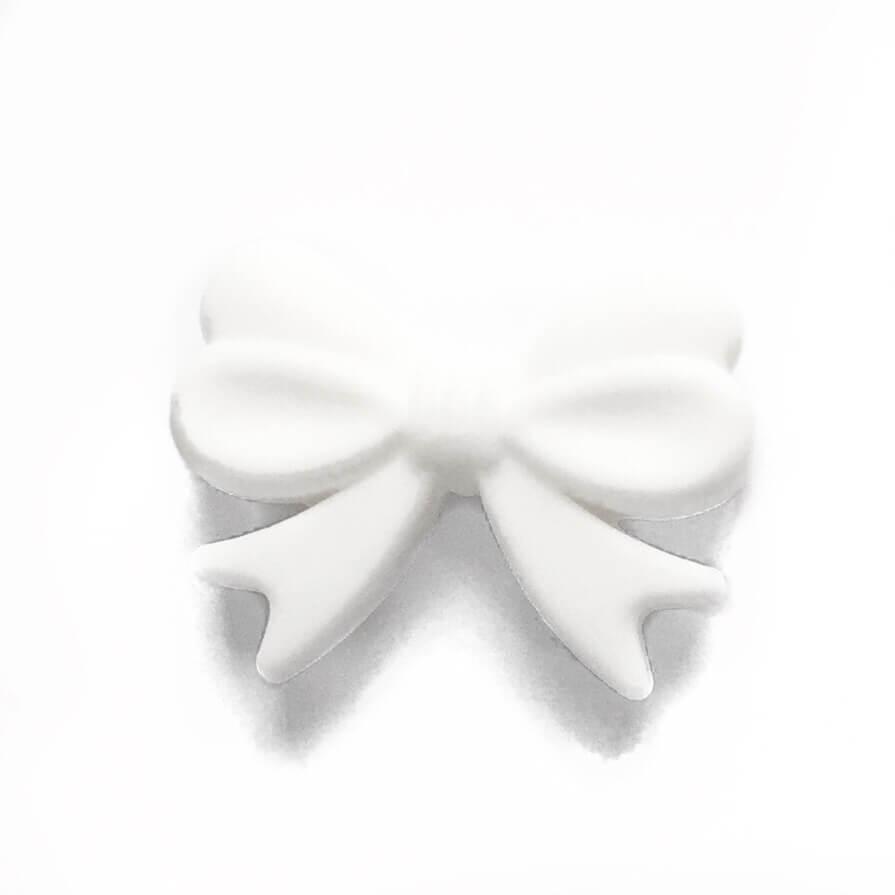 Бантик (белый) силиконовые бусины