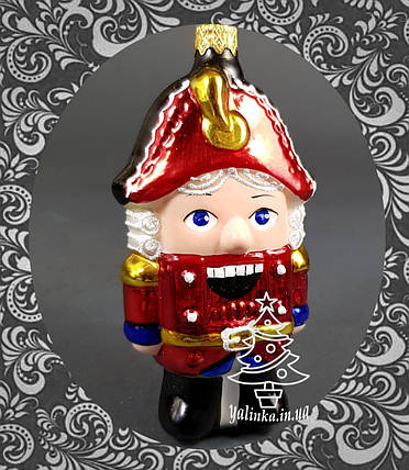 Стеклянная елочная игрушка Щелкунчик, фото 2