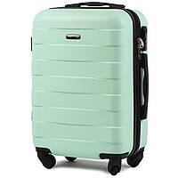 Малый пластиковый чемодан Wings 401 на 4 колесах зеленый, фото 1