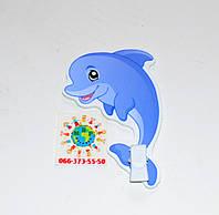 Держатель рисунка с прищепкой Дельфин