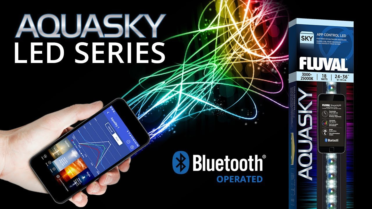 Светильник в аквариум 75-105см Fluval AquaSky Bluetooth LED 2.0 21W (Hagen)