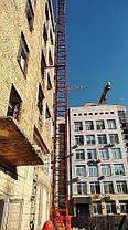 Н-79 метрів. Щогловий підйомник для подачі будматеріалів, будівельні підйомники з висувною платформою 750 кг., фото 3