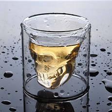 Стакан с черепом внутри DOOMED, стакан для виски с черепом PR1, фото 3