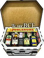 Подарок мужчинам CraftBoxUA Мини-бар в чемодане