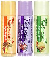 Набор защитных бальзамов-стик для губ Blistex Lip Protectant SPF 15 Fruit Smoothies Фруктовый коктейль, фото 1