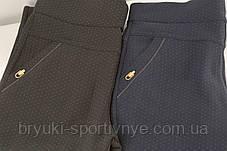 Штани жіночі в горошок на флісі M - XXL, фото 2