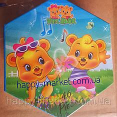 Набор для детского творчества Медвежата  (46 предметов) шестигранный
