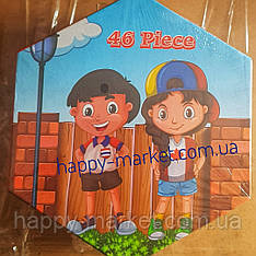 Набор для детского творчества два друга (46 предметов) шестигранный