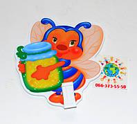 Держатель рисунка с прищепкой Пчелка