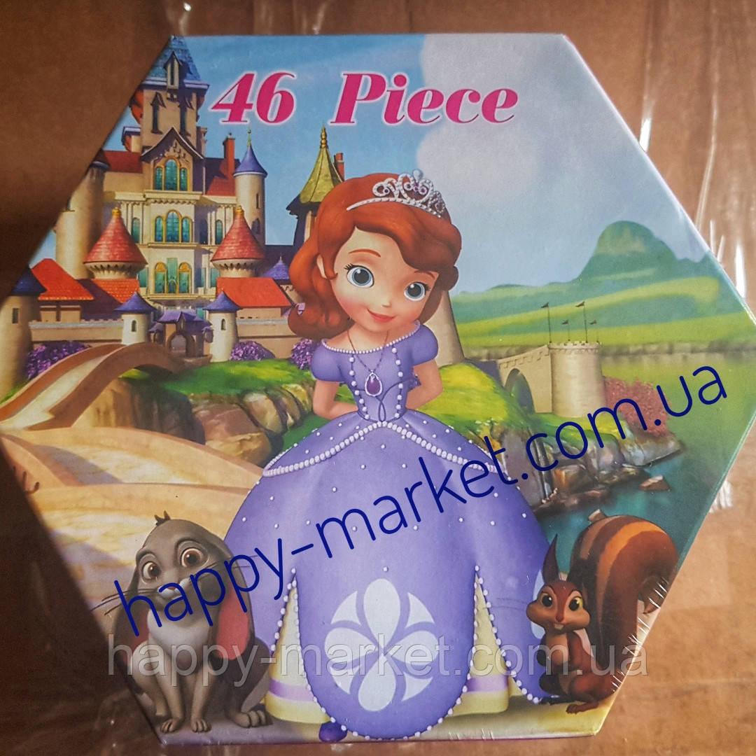 Набор для детского творчества Принцесса София (46 предметов) шестигранный