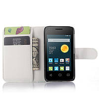 Чехол-книжка Litchie Wallet для Alcatel Pixi 3 4009D (3.5) Белый