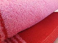 Полотенце лицевое махровое красное с розовым 70*40