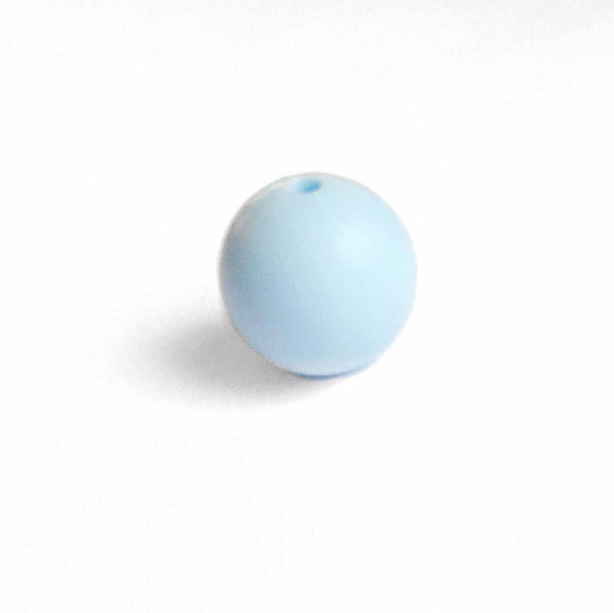 12мм (беби блю) круглая, силиконовая бусина