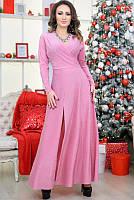 Розовое вечернее платье Валери, в пол, фото 1